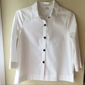 COLDWATER CREEK Button front Blouse 100% Cotton
